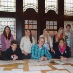 Die Jugendredaktion bei der Arbeit: Gemeinsam entwickelten Schülerinnen und Schüler aus Ahlen die Thesen des lokal-o-mat.